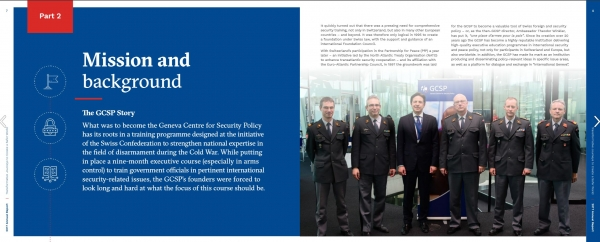 Page 7 and 8 of the GCSP Annual Report