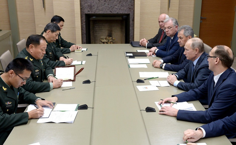 [President of Russia Vladimir Putin] Meeting with Vice Chairman of Chinese Communist Party Central Military Commission Zhang Youxia
