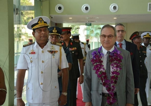 Vice-Chairman KDU, Rear Admiral Jagath Ranasinghe, Vice Chancellor, KDU; His Excellency Heinz Walker-Nederkoorn, Ambassador of Switzerland to the Democratic Socialist Republic of Sri Lanka and to the Republic of Maldives Air Chief Marshal Kolitha A Gunatilleke, Chief of Defense Staff